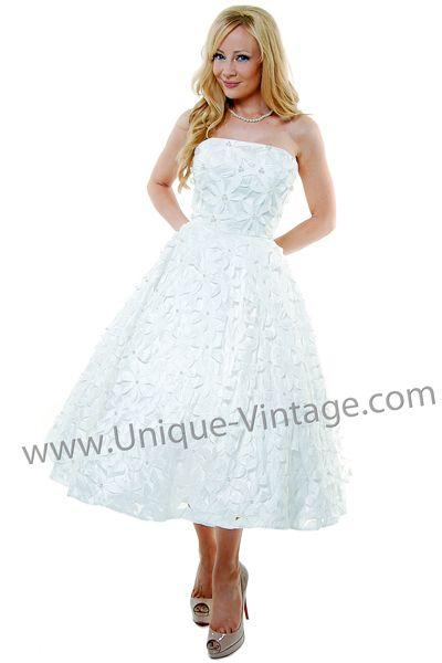 Wedding dress - tea length $228.00 Borrowed from the best part of ...