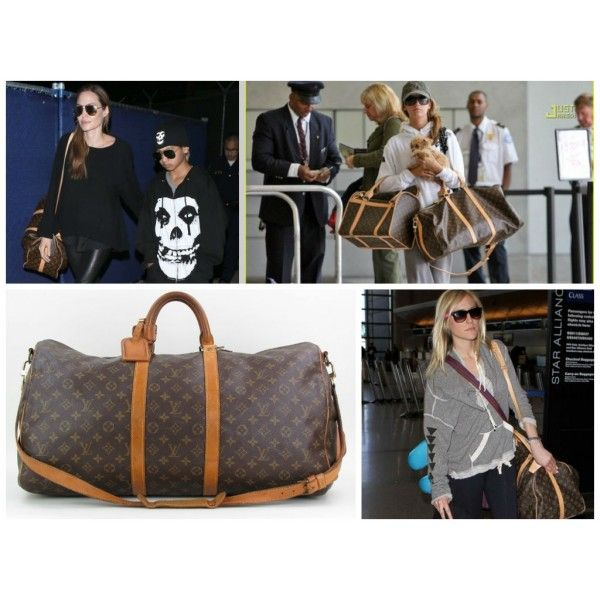 9339cfd85d2 Celebrities & Louis Vuitton Monogram Canvas Keepall 50 Bandouliere ...