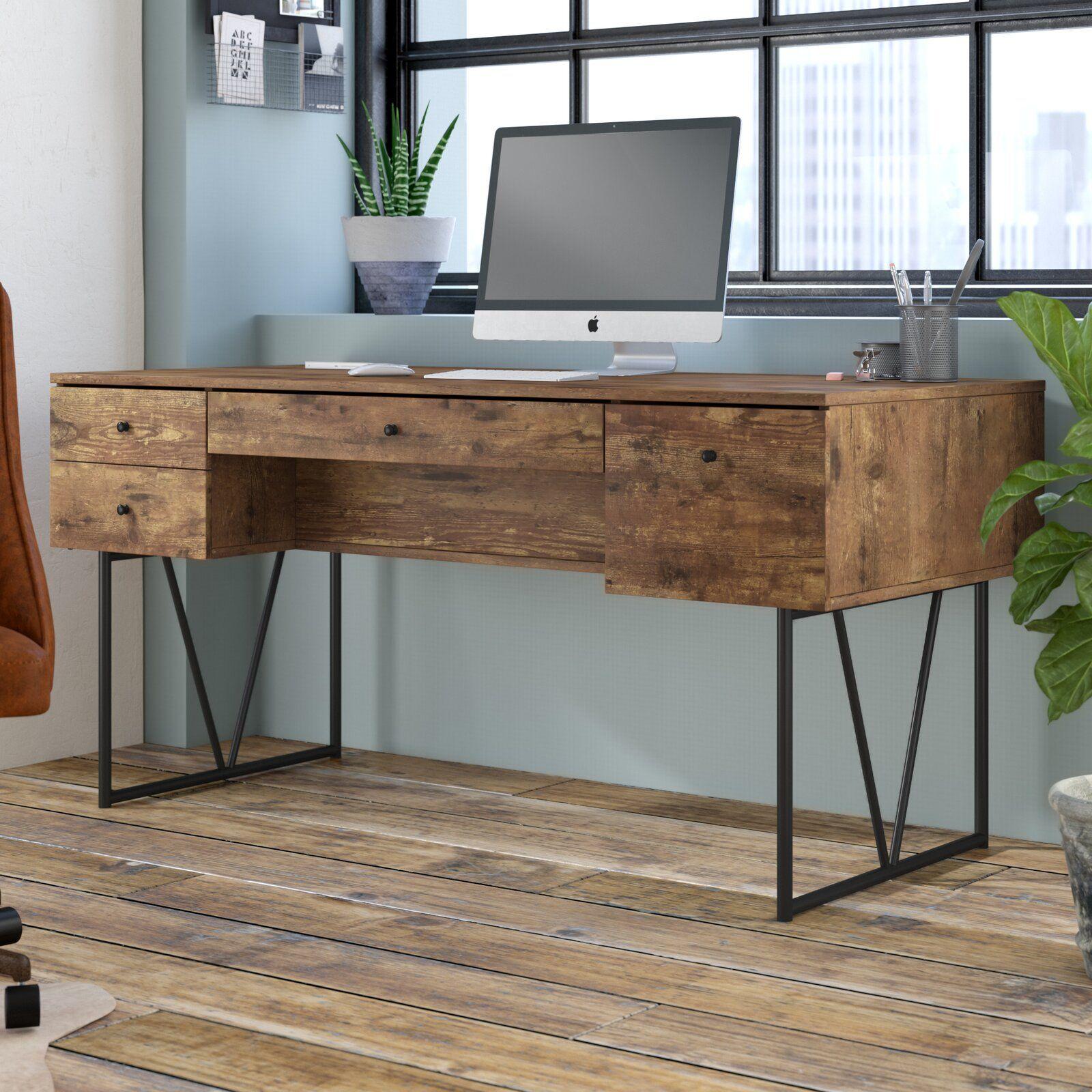 Fallon Reversible Desk Solid Wood Writing Desk Cheap Office