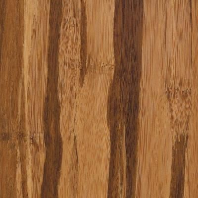 Strand Woven Tigerstripe 3 8 In Thick X 3 7 8 In Wide X 73 1 4 In Length Solid Bamboo Flooring 23 65 Sq Ft Bamboo Flooring Solid Hardwood Floors Flooring