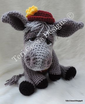 Crochet Pattern Simply Cute Donkey Instant Download Pdf Format