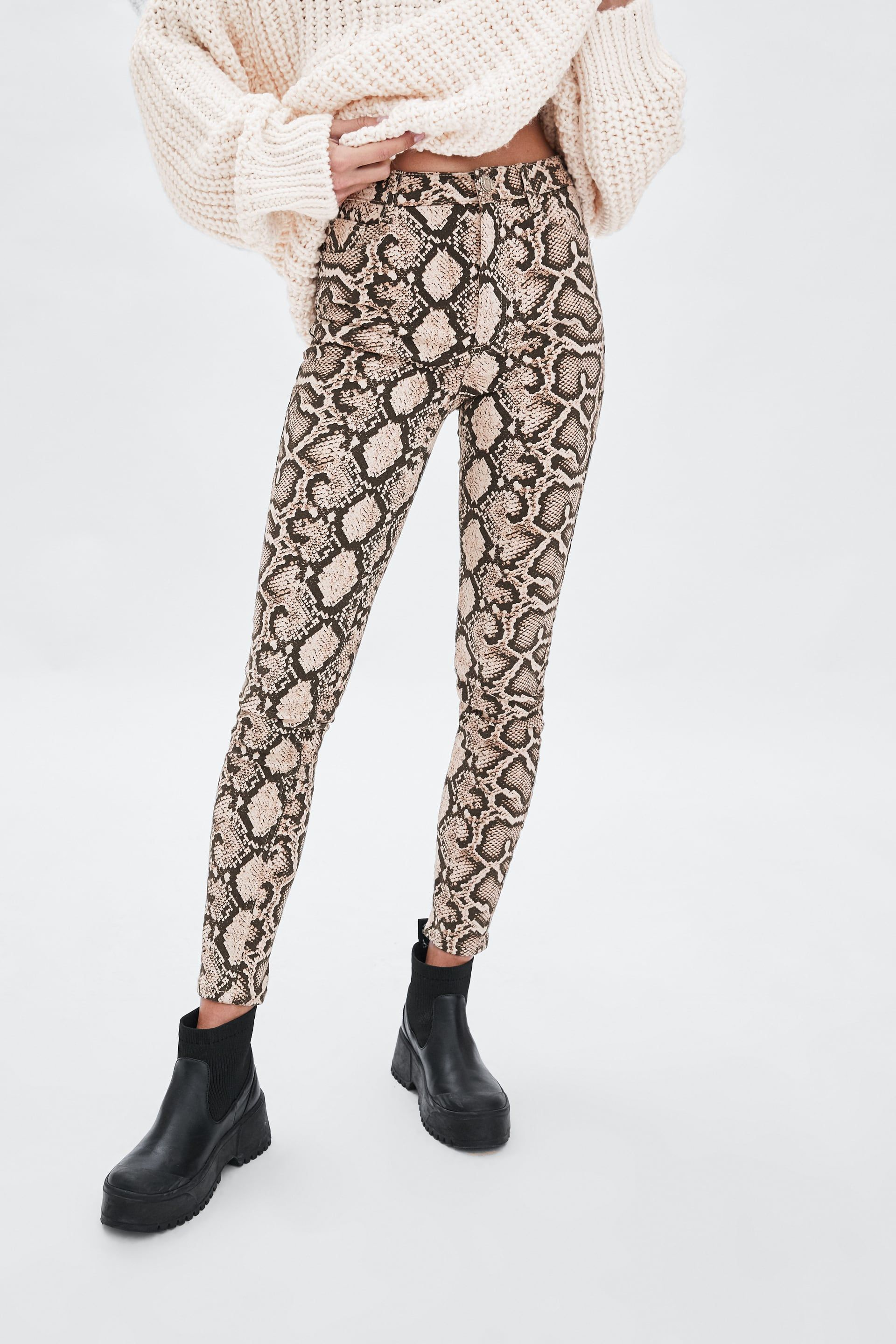 69fecfc56dfcc2 Skinny snakeskin print jeans in 2019 | style and fashion | Printed ...