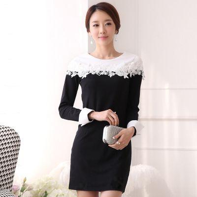 Đầm nữ dài tay thời trang, thiết kế mới cá tính, kiểu dáng tự tin