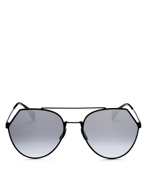 57c6f4ec73e75 Women s Eyeline Mirrored Brow Bar Round Sunglasses
