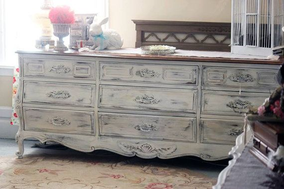 Vintage French Provincial LONG Dresser Sold by Redposiefurniture, $650.00