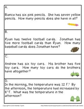 Addition and Subtraction (Mixed Number Stories Teaching Key Words ...
