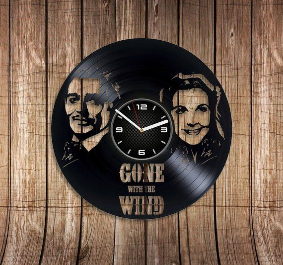 Gone With Wind Vinyl Record Wall Clock Xmas Gift New Year ...