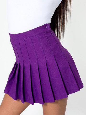 Violaceous Tennis Skirt   American Apparel