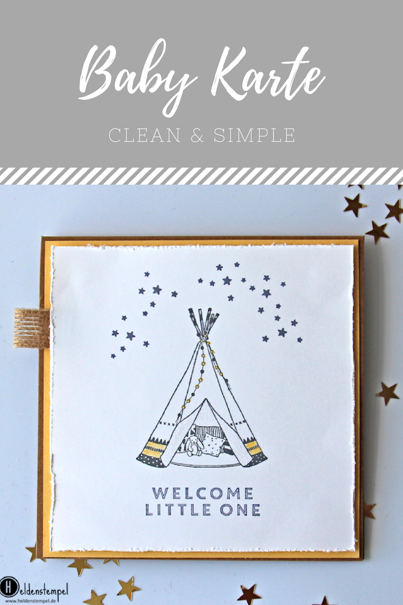 Baby Karte.Welcome Little One Stampin Up Karte Zur Geburt Little