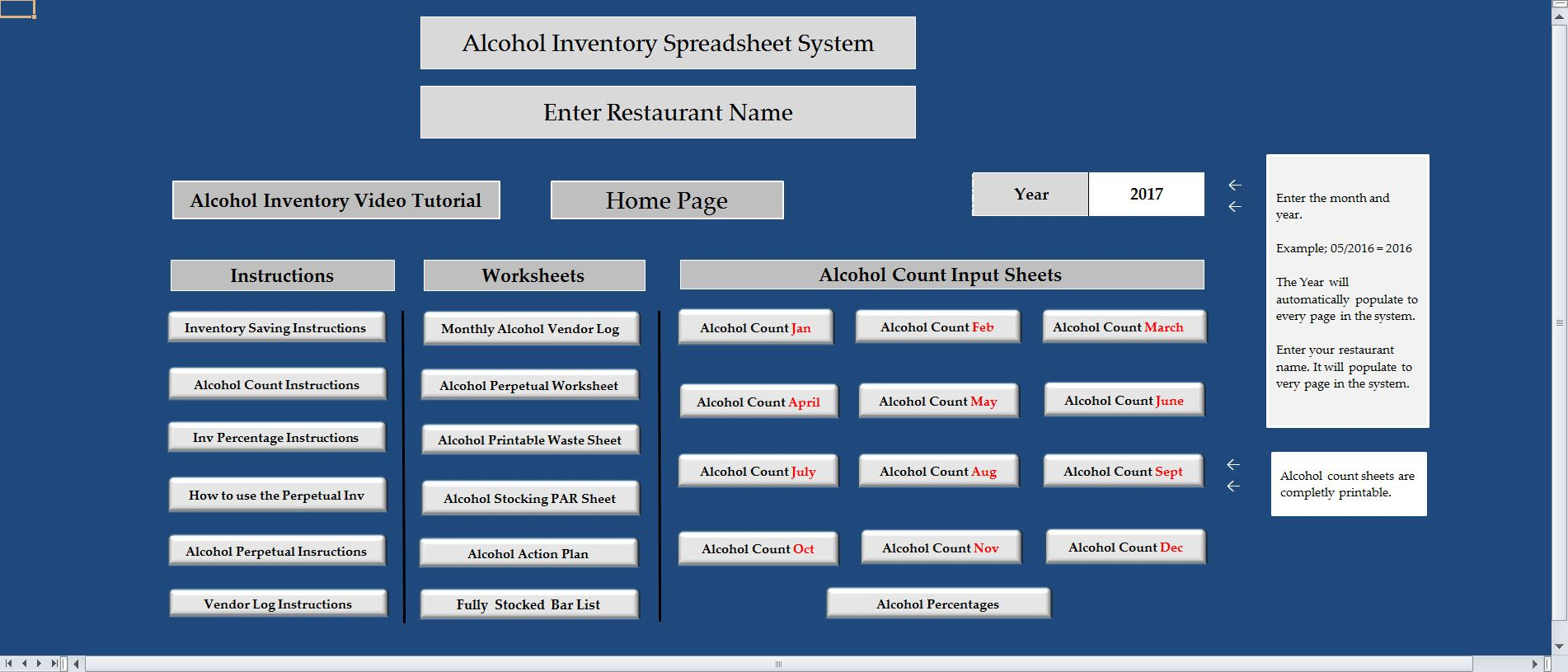Alcohol Inventory  Workplace Wizards Restaurant Consulting
