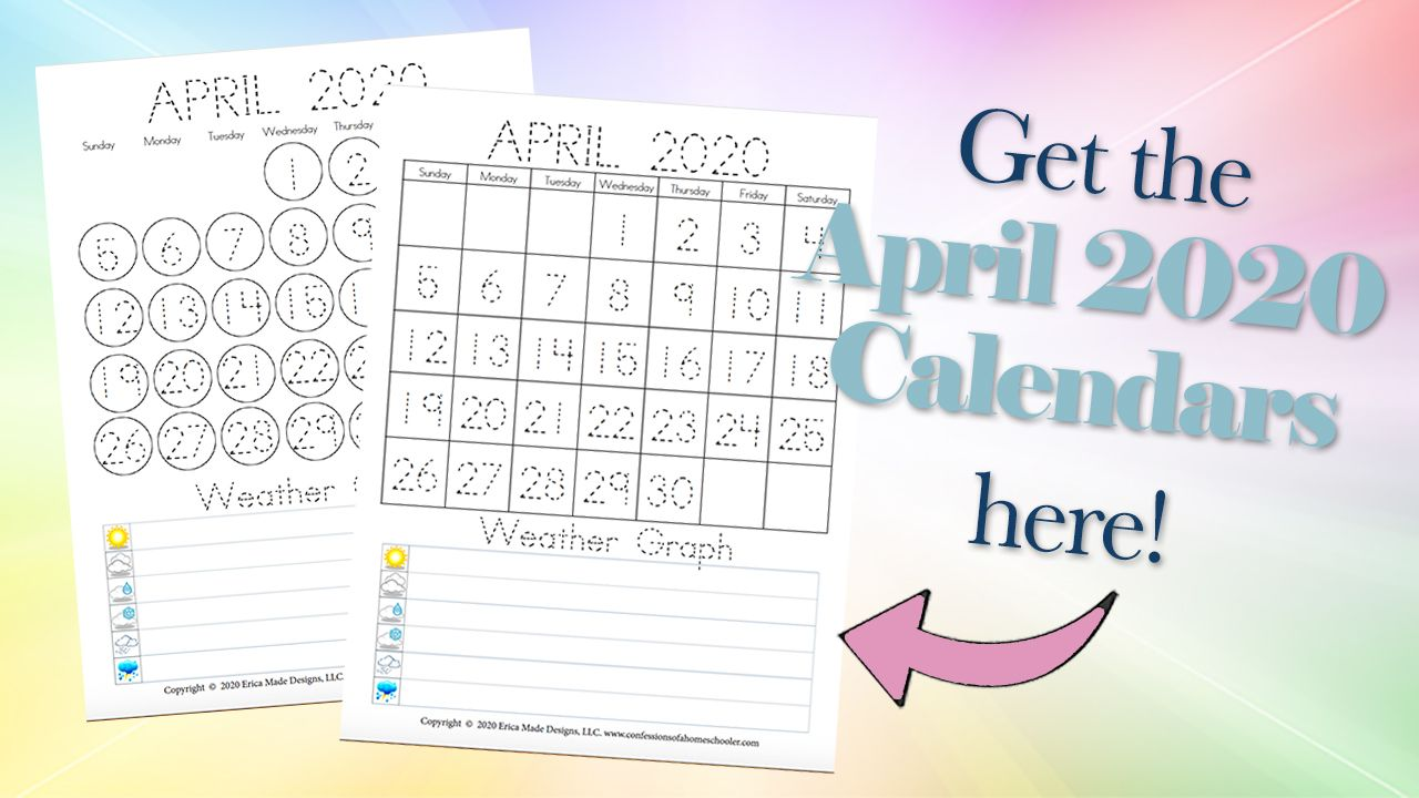 April 2020 Free Printable Calendars is a post from
