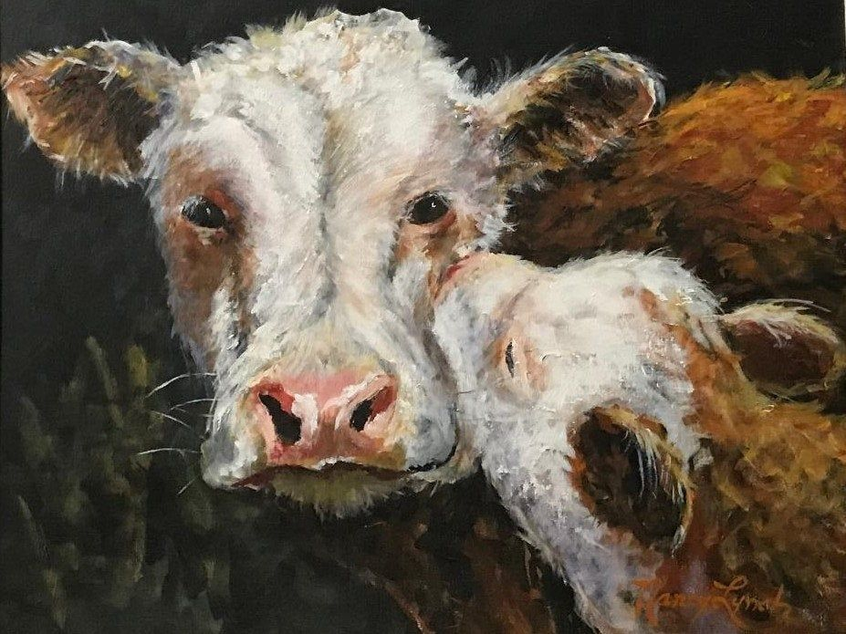 Cow Painting Cow Print Farm Animal Painting Cow Wall Decor Cow Wall Art Cow Art Cow And Calf Mothers Day Gift Farmhouse Decor Country In 2020 Cow Painting Cow Wall Art Farm Animal Painting