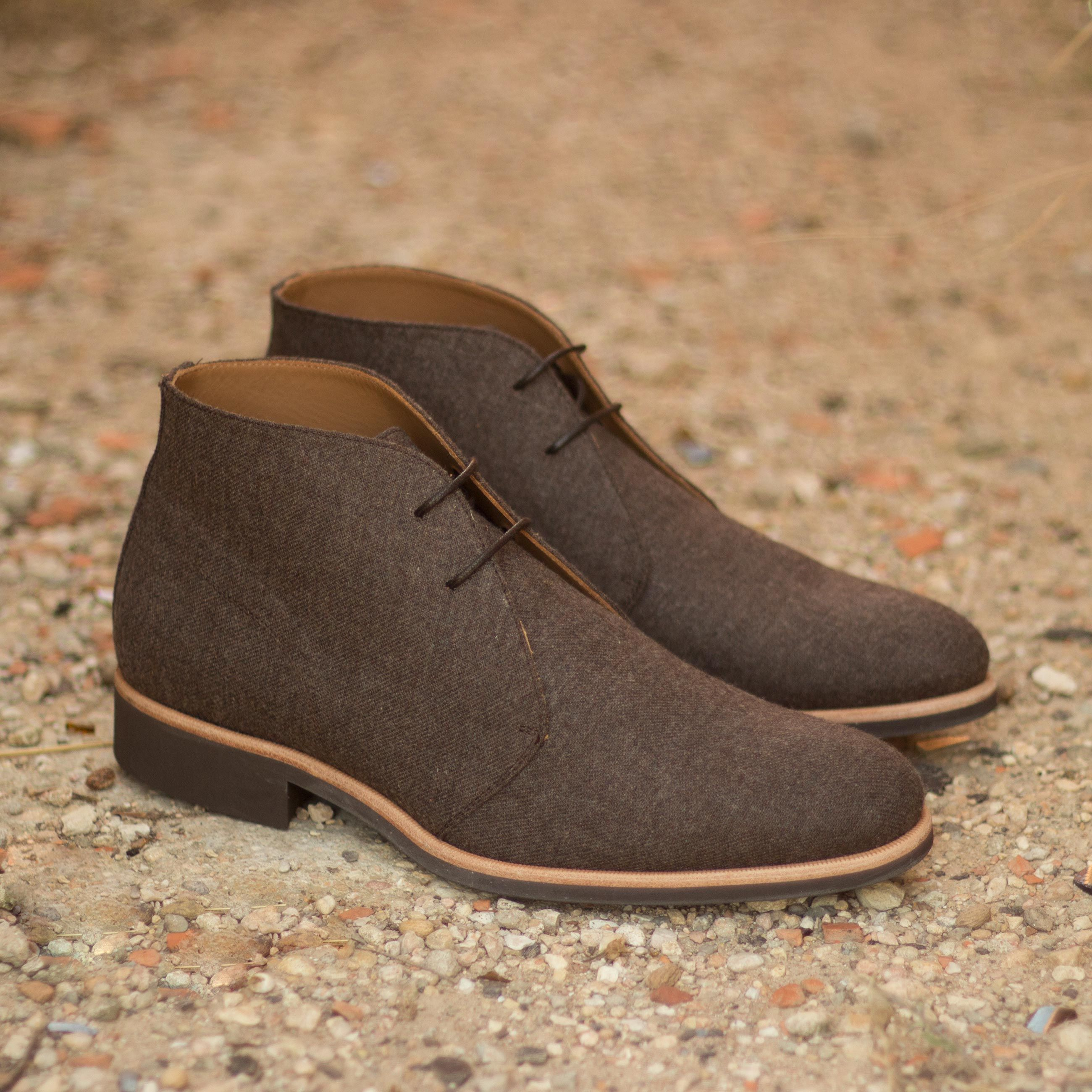 Custom Made Chukka Boot in Brown Flannel  Robert August Apparel is part of Chukka boots - Handcrafted Custom Made Chukka Boots in Brown Flannel From Robert August  Create your own custom designed chukka boots shoes shoesoftheday dapper menswear mensfashion luxurylifestyle success hot style bespoke luxury