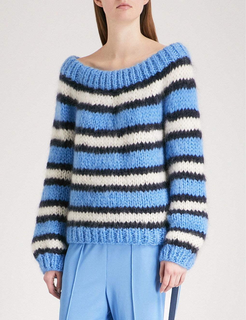 GANNI Julliard mohair and wool-blend jumper  c4285f07d