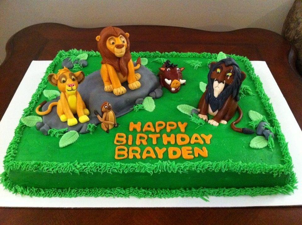 Disney themed cakes lion king birthday lion king cakes