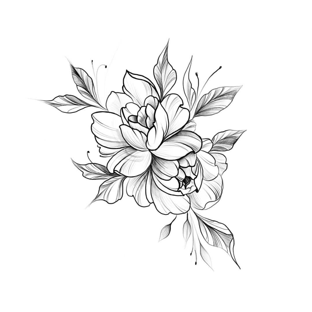 оформление картинки цветы для татуировок этом широко