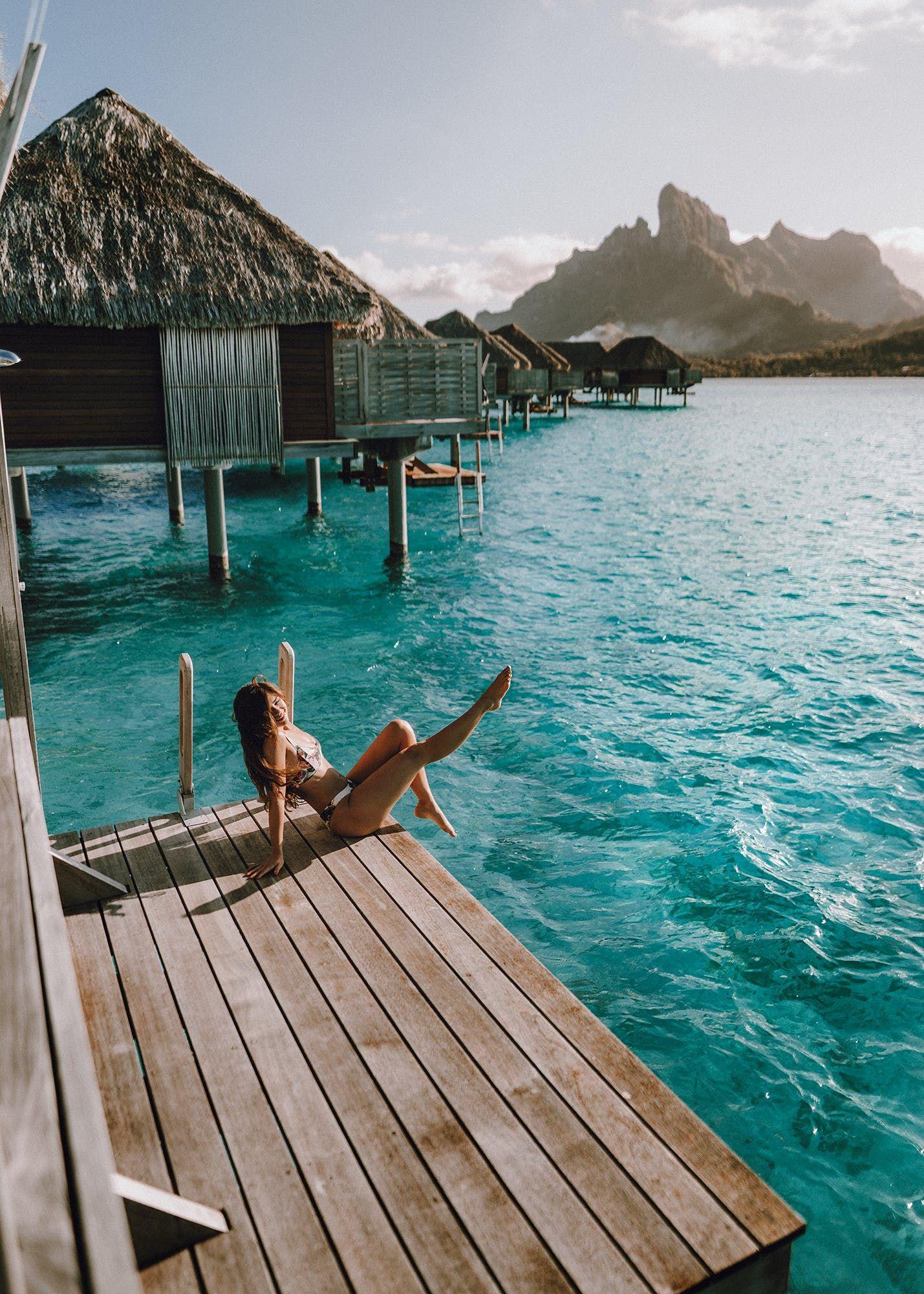 Four Seasons Bora Bora Resort A Honeymoon Dream Away Lands In 2020 Bora Bora Resorts Four Seasons Bora Bora Bora Bora