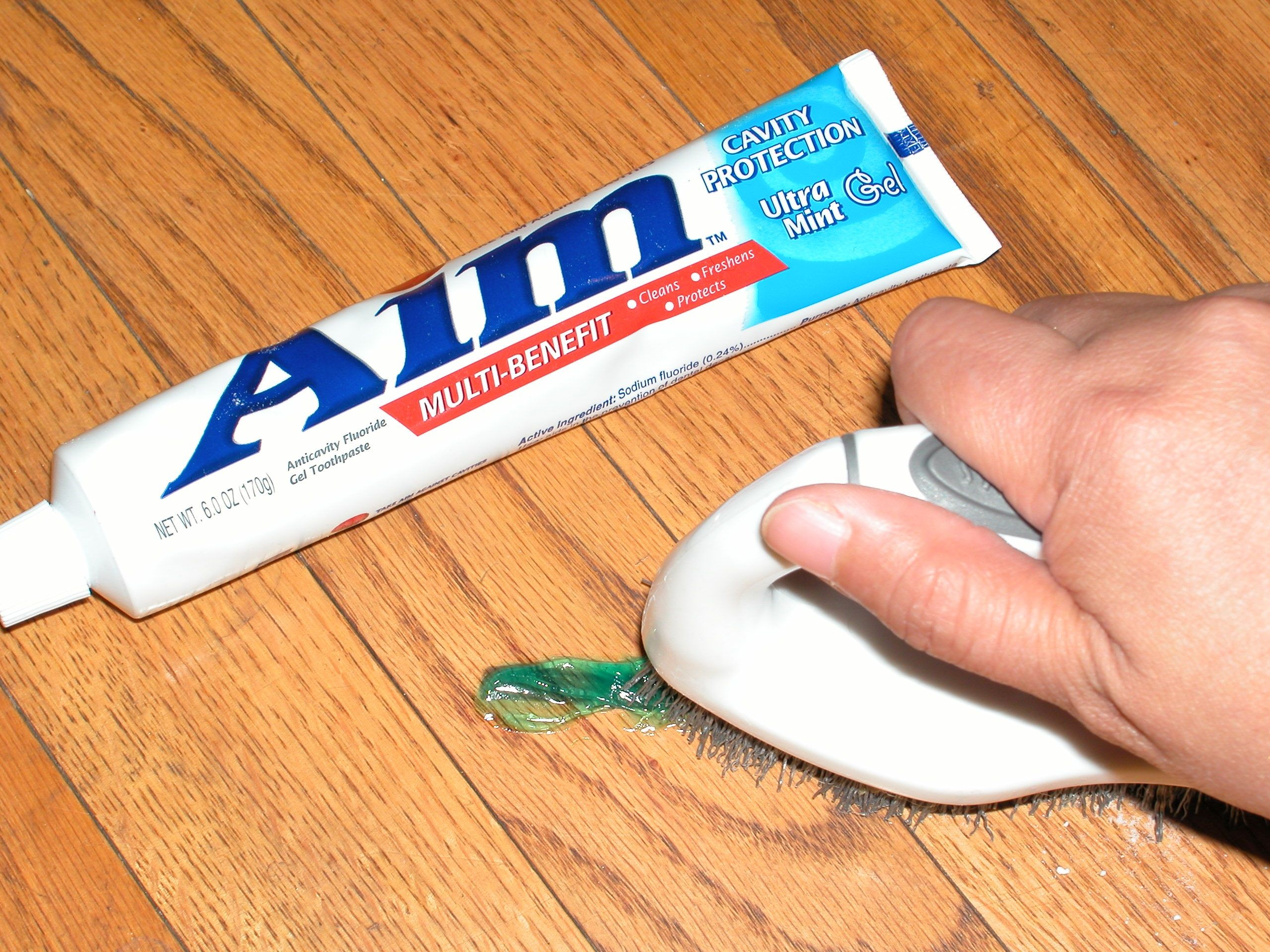 Get permanent marker stain out of hardwood flooring