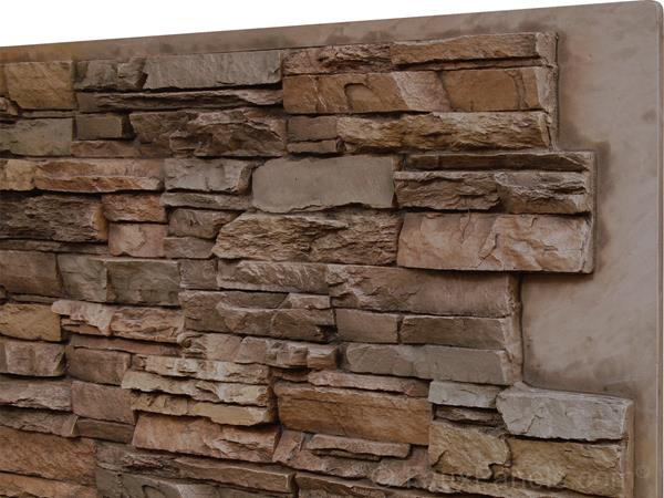 norwich colorado stacked stone tall panel  wainscoting