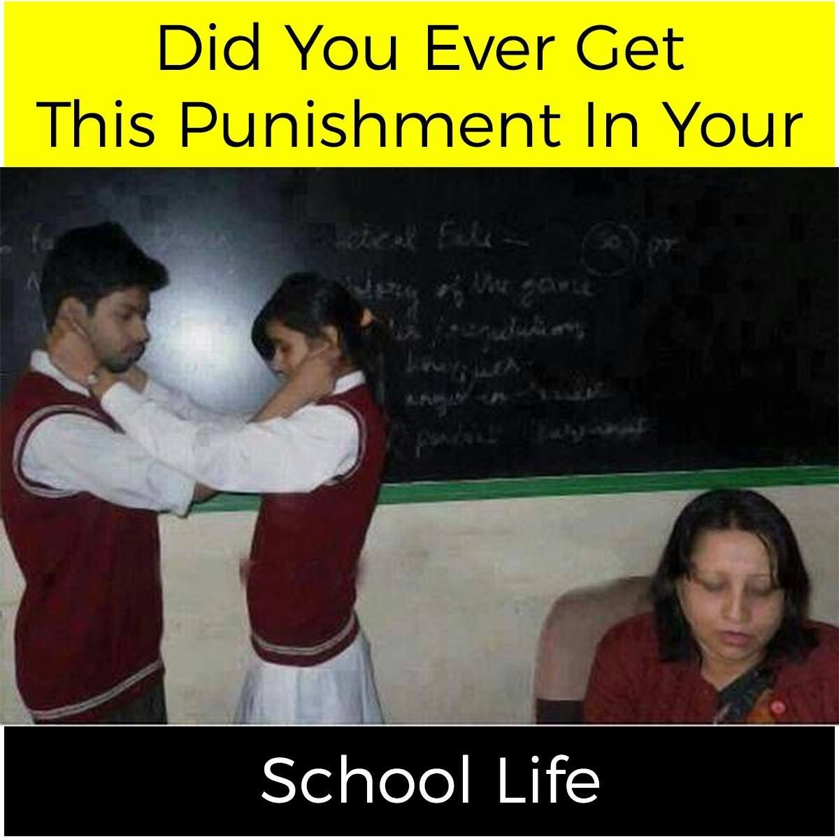 Nooooo We Didn T Get These Types Of Punishment College Memories Quotes Jokes In Hindi Student Memes
