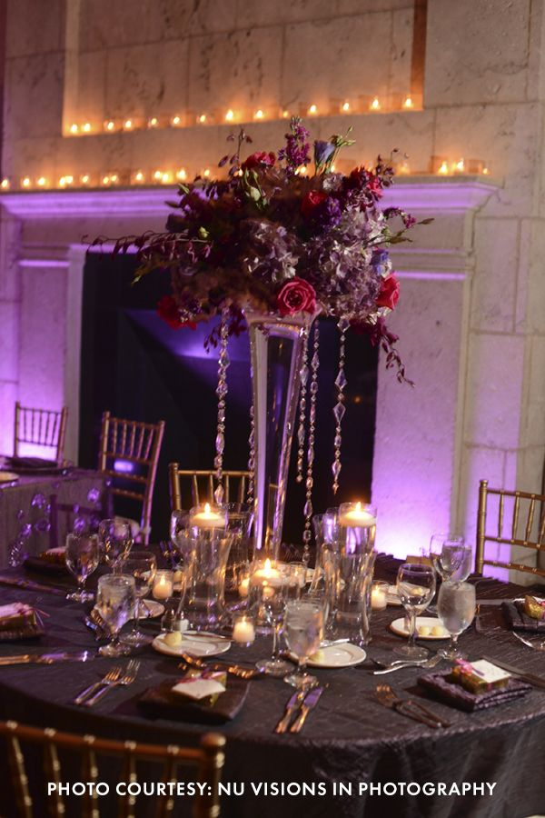Glam Purple And Gold Wedding See More From Mollie And Mark S