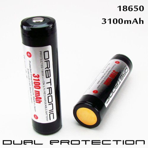 Two Protected 3100mah 18650 Industrial Ncr18650a Panasonic Cell Inside By Orbtronic Http Www Amazon Video Camera Photo High Power Flashlights Laser Pointer