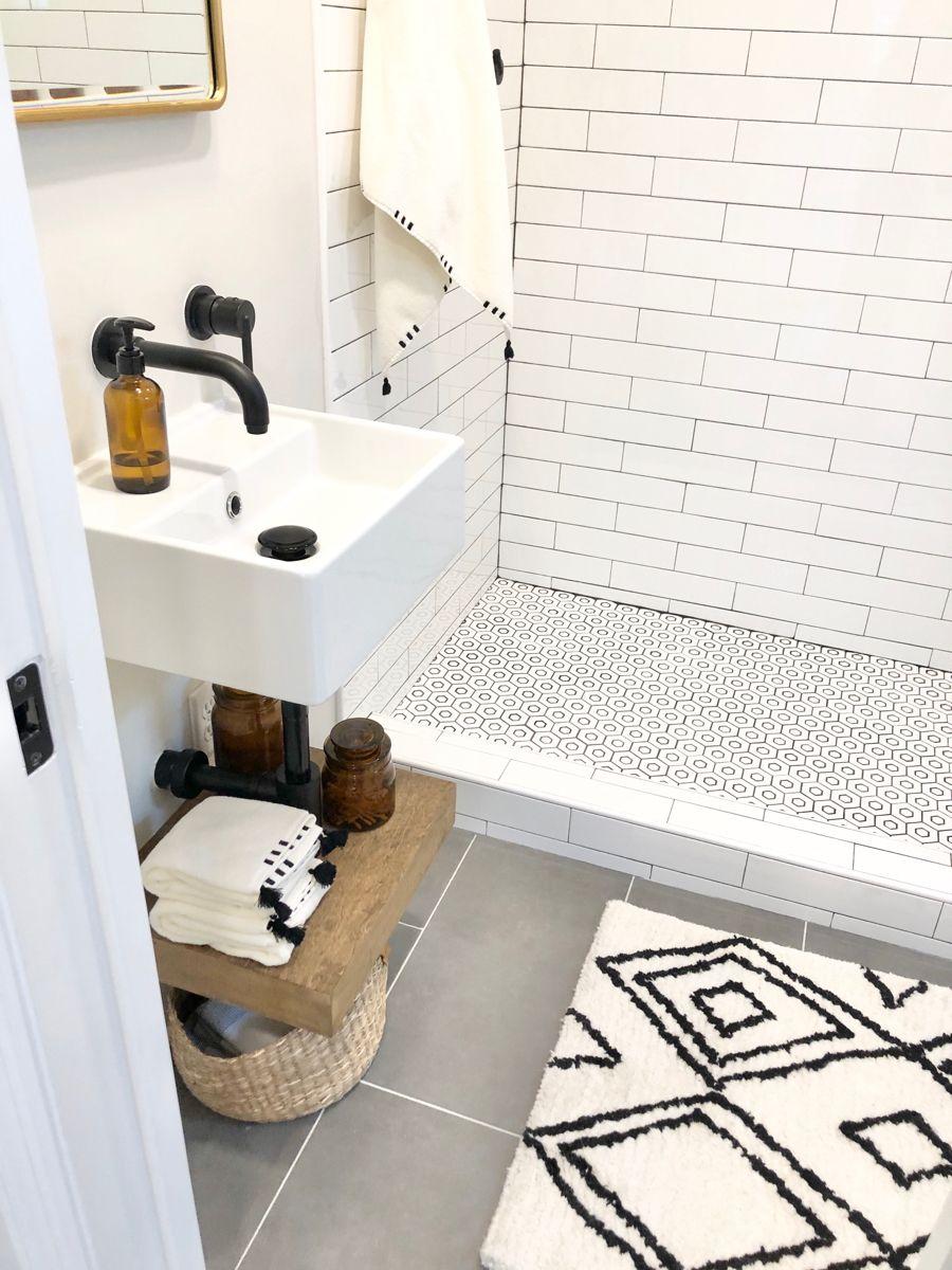#bathroomdecorationideas #potterybarnfurniture #hearthandhand #subwaytilebathroom #lulugeorge #showerpandiy