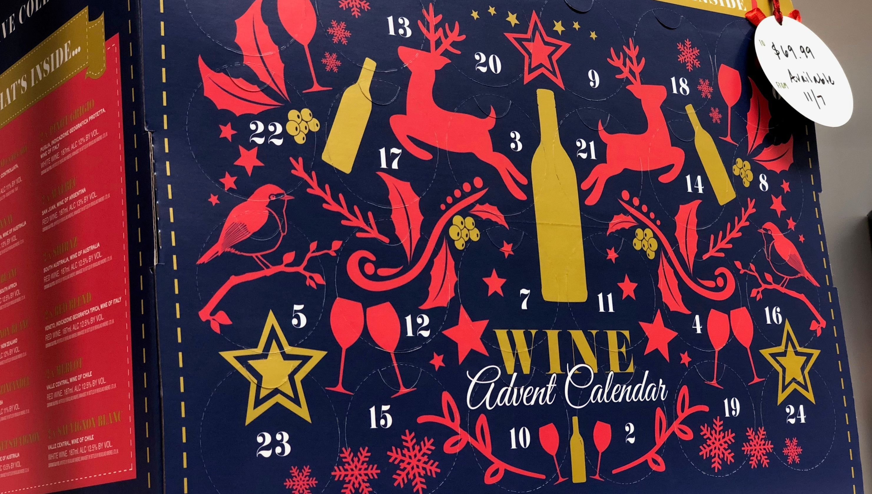 Aldi Says Drink To Advent With A Different Bottle Of Wine Every Day Wine Advent Calendar Aldi Wine Wine Preserver