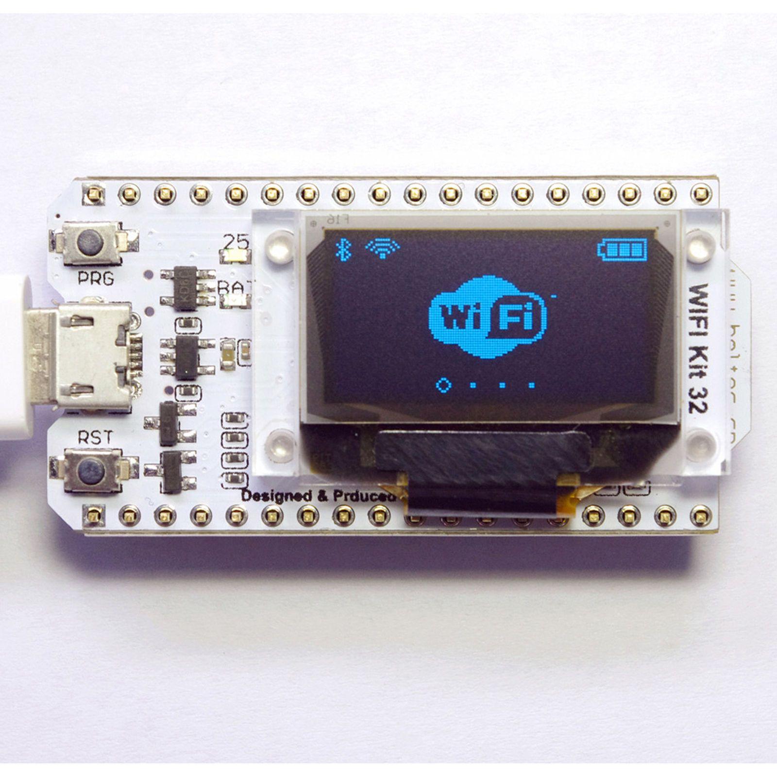 ESP32 WIFI chip 0 96 inch OLED Bluetooth WIFI Kit CP2102 32M module