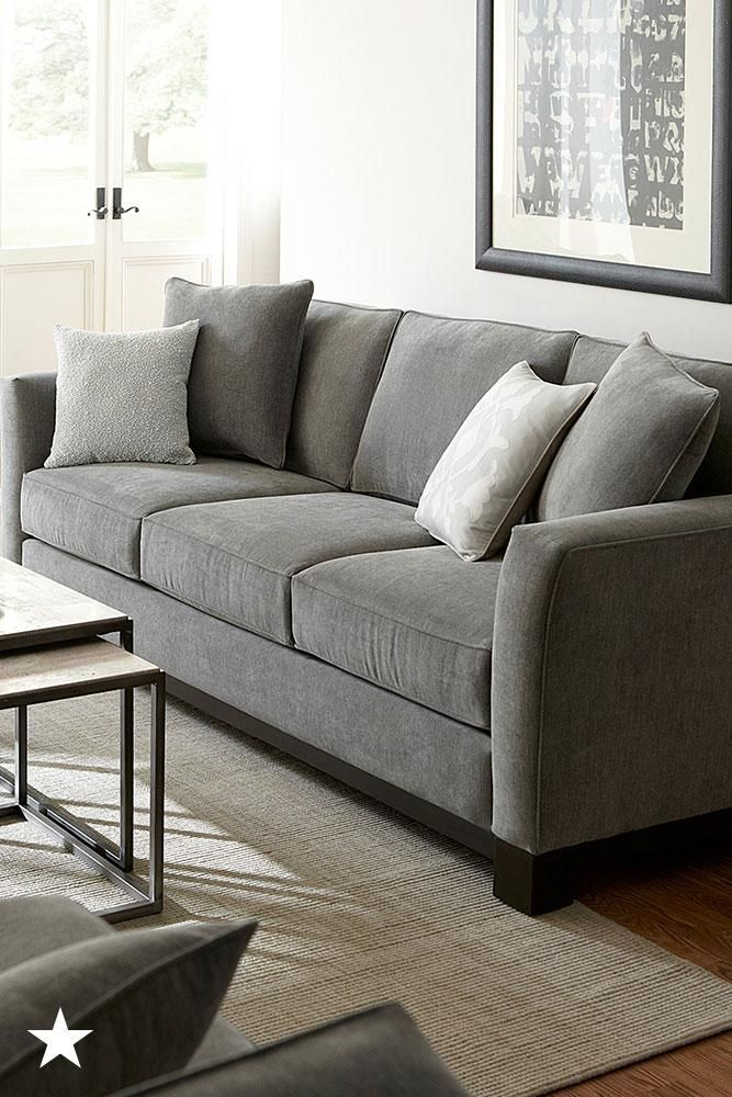 This Sofa S Ultra Soft Upholstery And Simple Detailing Make It The