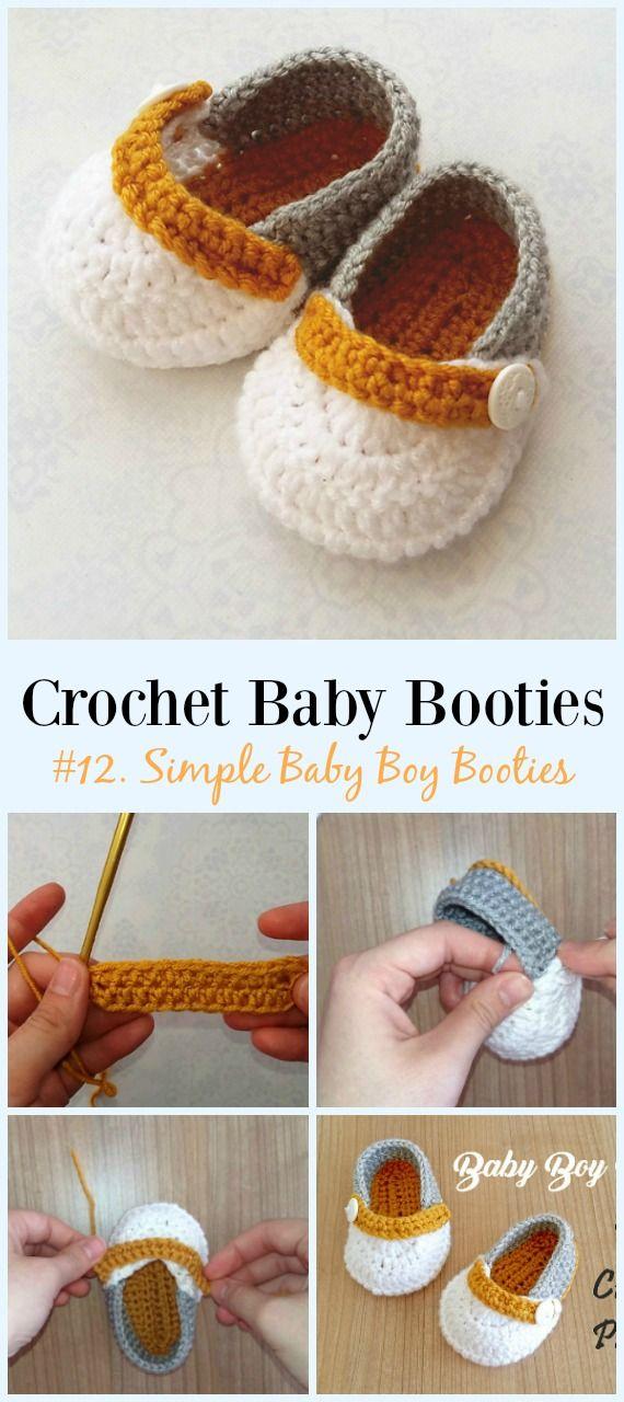 Baby Booties Free Crochet Patterns | Ganchillo | Pinterest ...