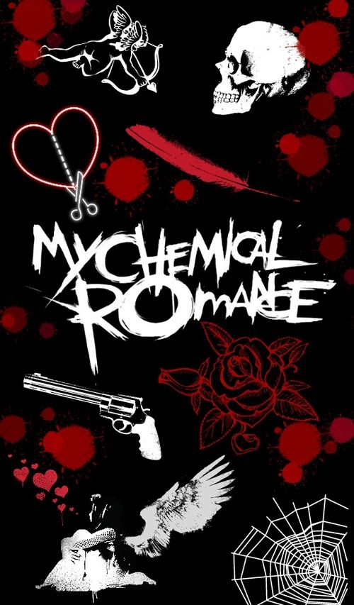 Black Mcr And Red Image My Chemical Romance Wallpaper Emo Wallpaper Band Wallpapers