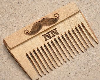 Folding Beard Comb Wooden Personalized Custom By Enjoythewood