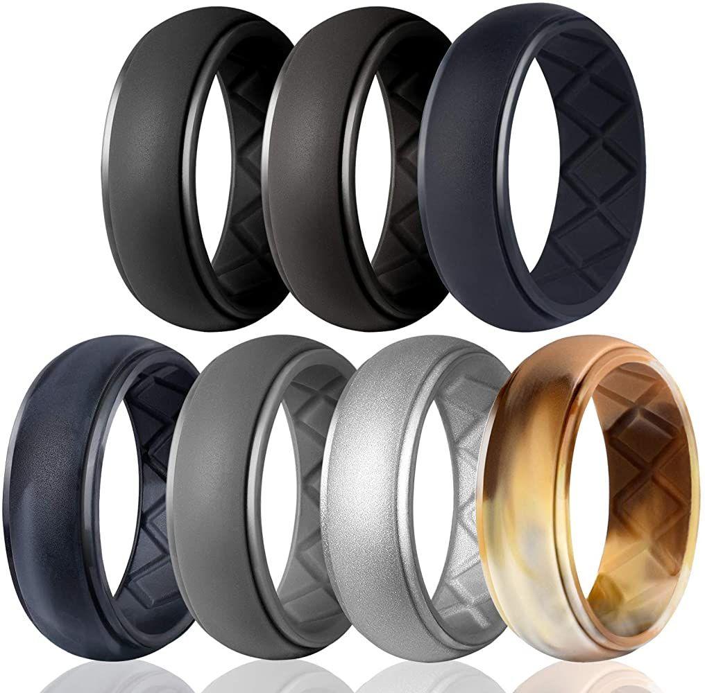 Egnaro silicone wedding ring for men