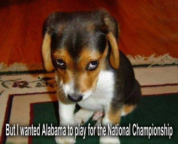 But I Wanted Alabama To Play For The National Championship For