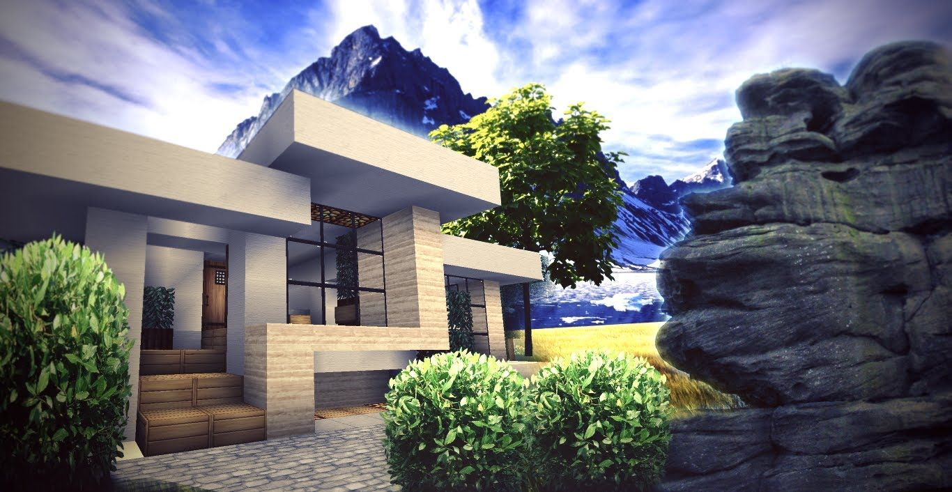 Superb 17 Best Ideas About Minecraft Small Modern House On Pinterest Largest Home Design Picture Inspirations Pitcheantrous