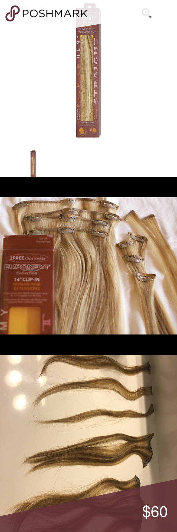 Euronext 14 Inch Remy Clip In Hair Extensions My Posh Closet