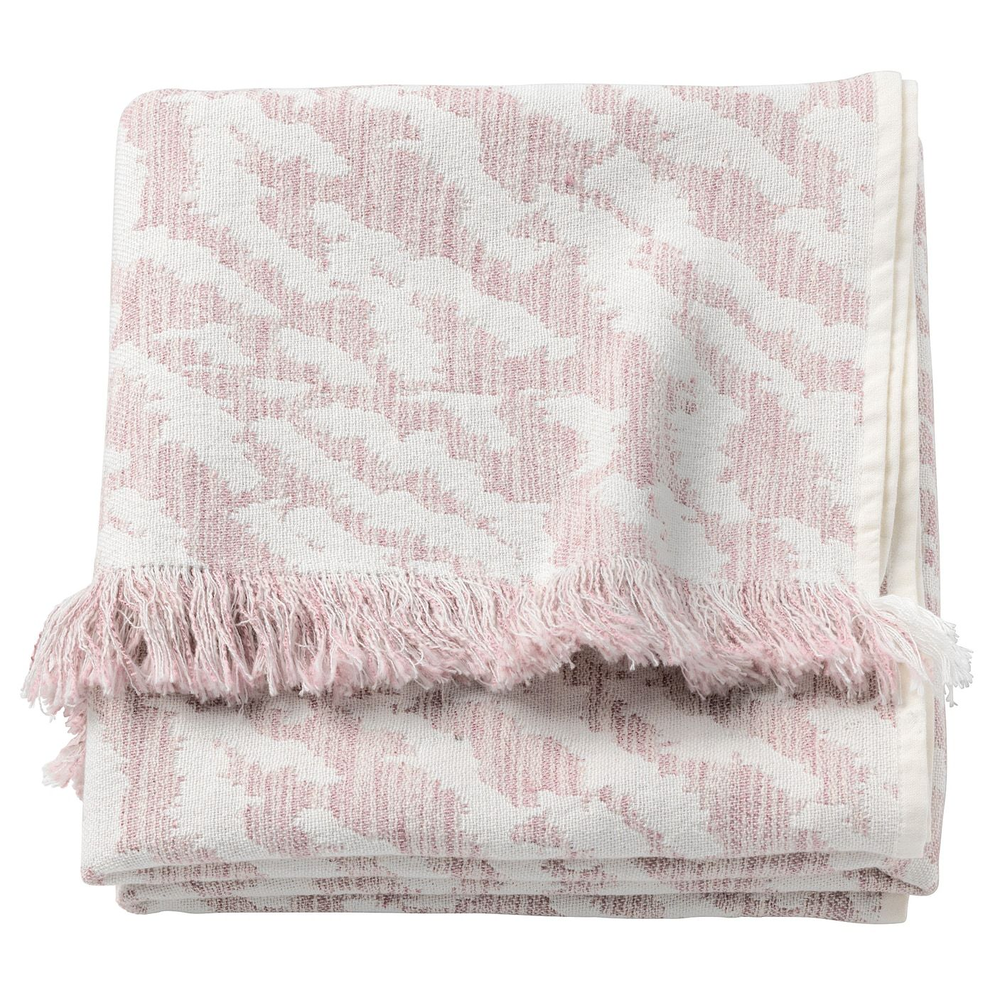 Kapaster Plaid Elfenbeinweiss Rosa Ikea Schlafzimmertextilien