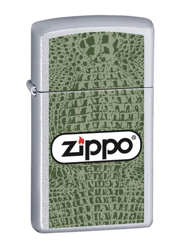 Zippo Lady green alligator SLIM