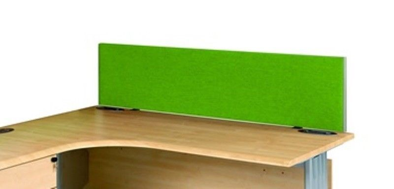 Desk Mounted Privacy Office Screens Dividers 800 1800mm Wide Variety Of Colours