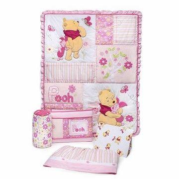Disney So Sweet Pooh 4 Piece Crib Set Baby Crib