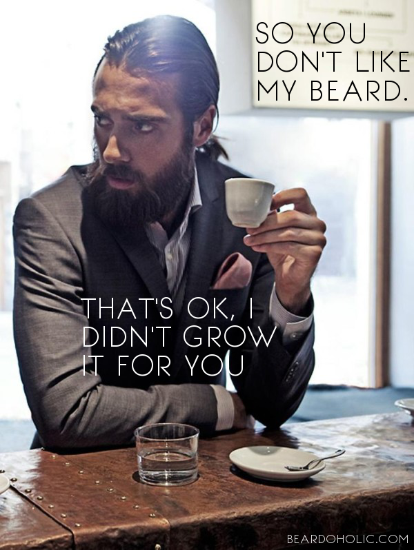 26ab4093 So you don't Like my Beard. That's ok, I didn't grow it for you. Best beard  quotes from Beardoholic.com