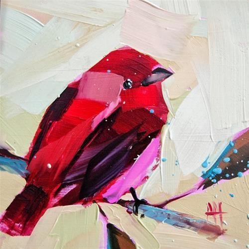 """Rose Finch no. 19"" - Original Fine Art for Sale - © Angela Moulton"