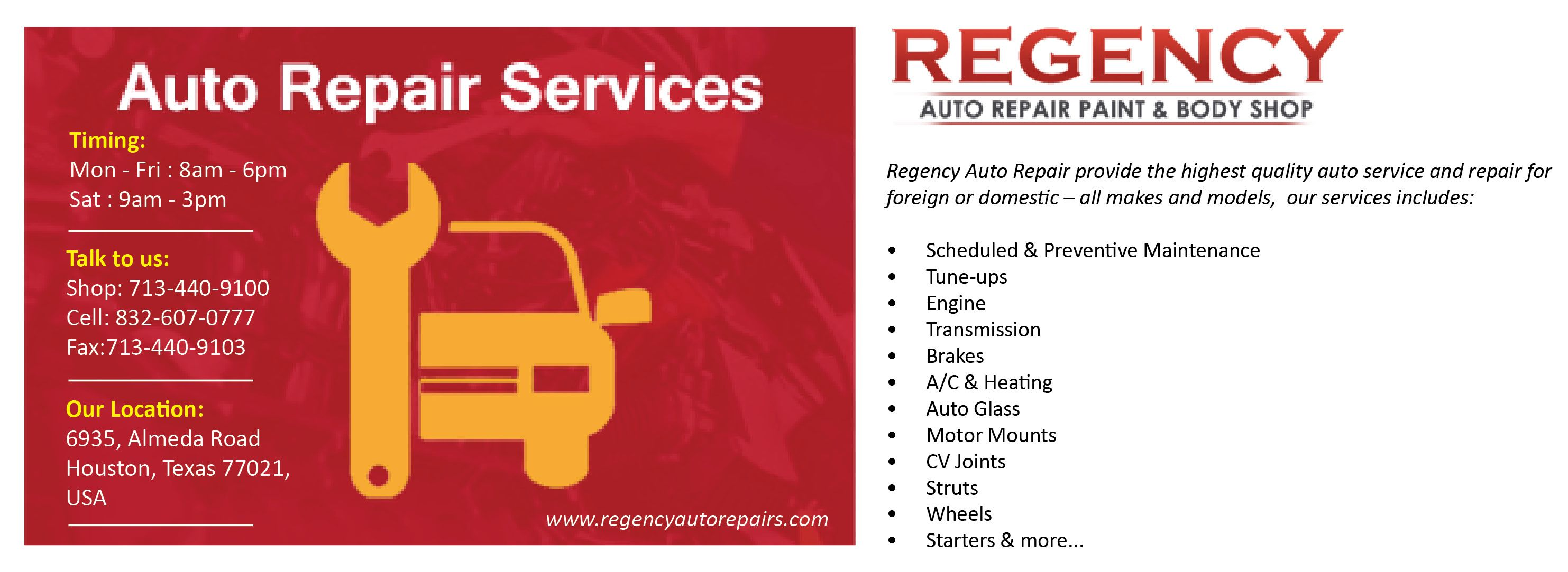 Regency Auto Repair Provide The Highest Quality Auto Service And