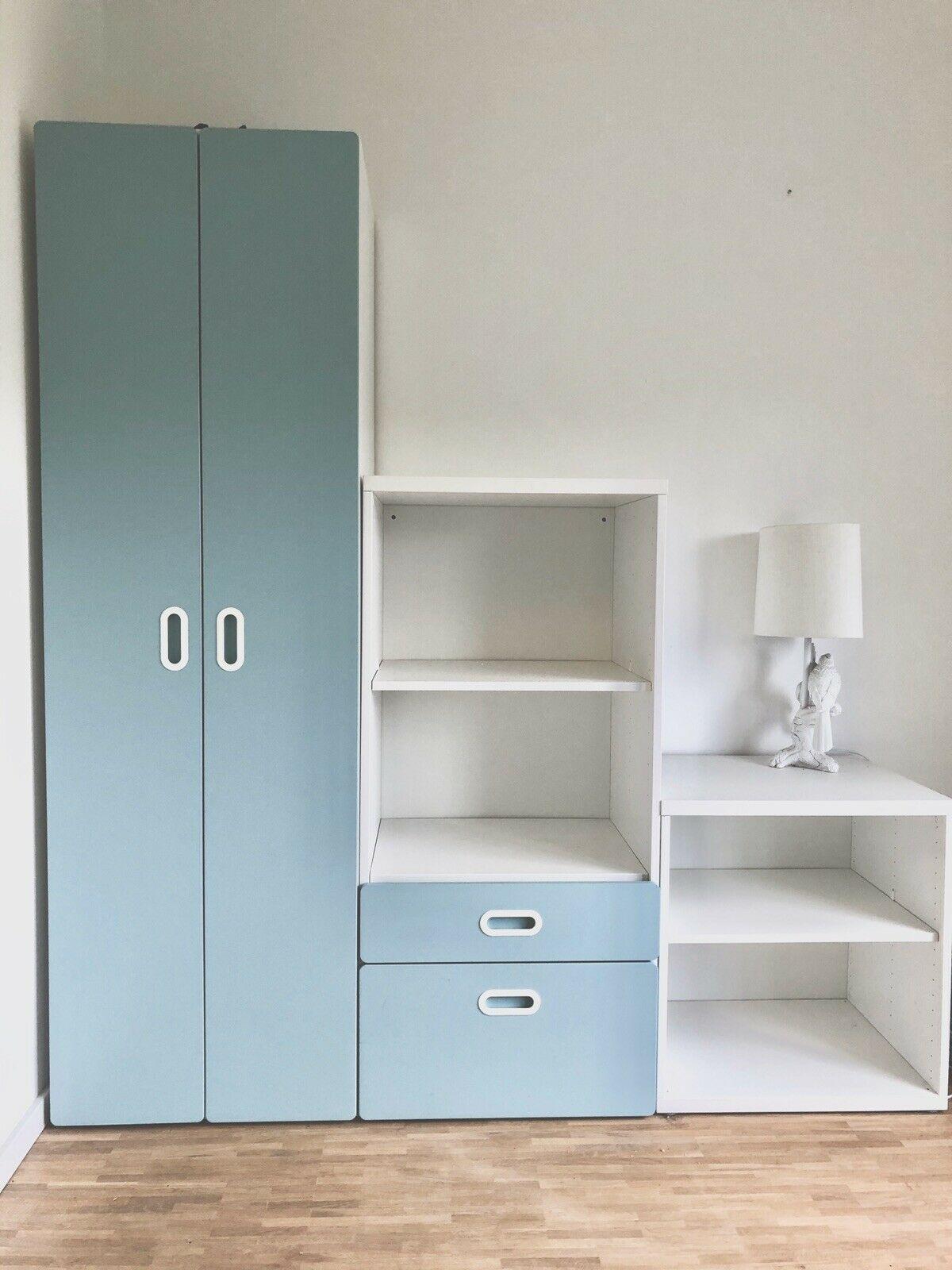 Ikea Stuva Malad Kleiderschrank Doppel Kinderzimmer Schrank Weiss