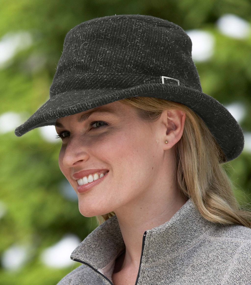 The winter Hat that started it all! Made with a textured wool outer ... 3f28eb9fecd