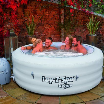 Lay-Z-Spa Vegas Series Portable Inflatable Hot Tub Amazonuk - garten pool aufblasbar