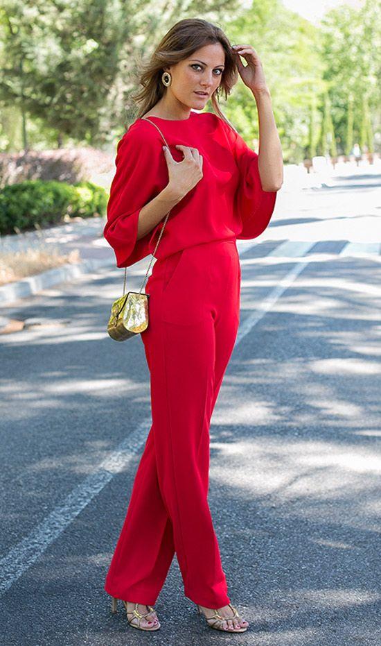 Looks vestido rojo corto