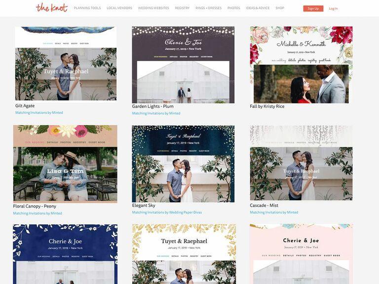 The 9 Best Wedding Website Builders Of 2020 In 2020 Wedding Website Builder Best Wedding Websites The Knot Wedding Website