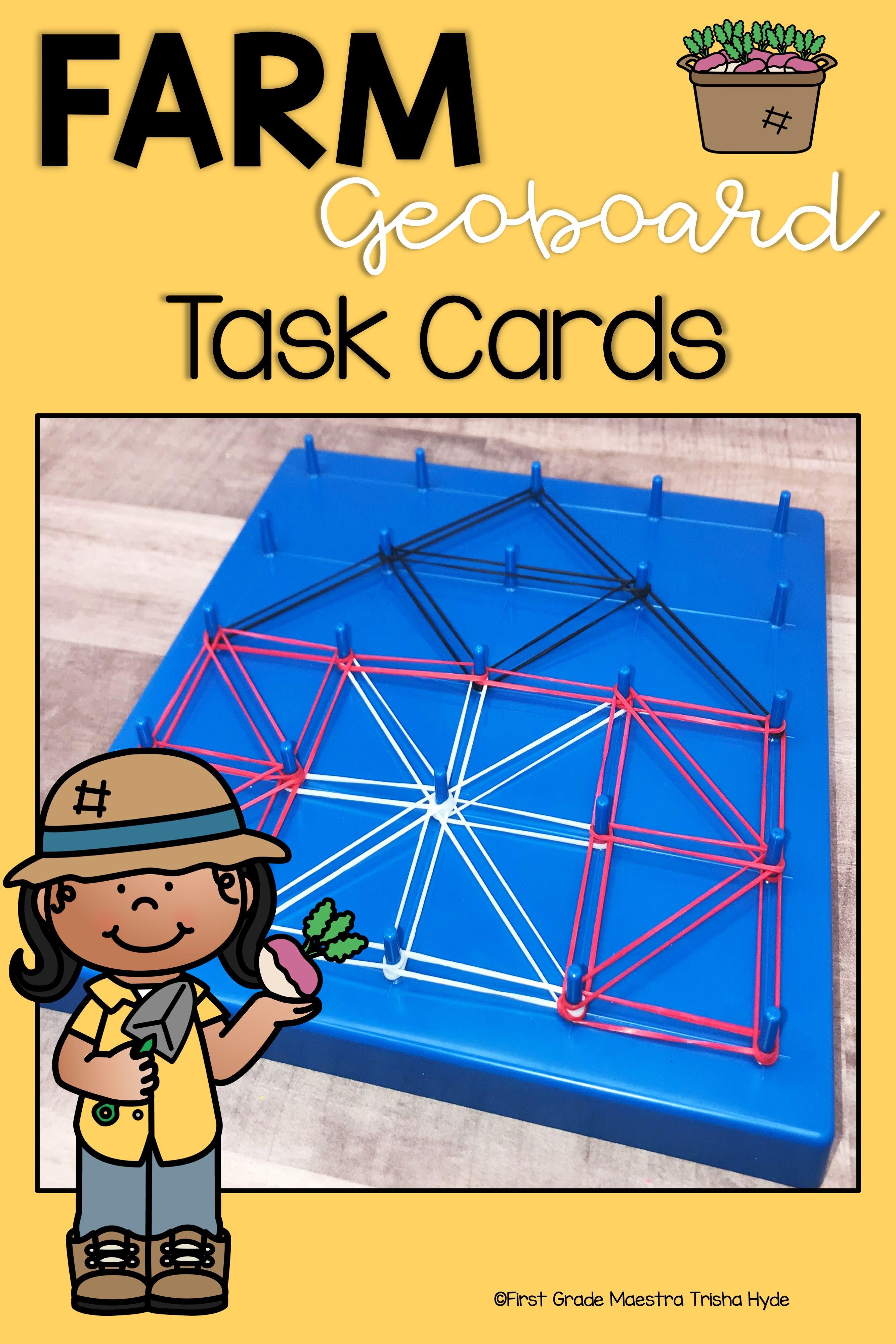 Farm Theme Geoboard Task Cards